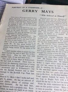 6211 Ephemera 1957 Football Article Gerry Mays Kilmarnock - Leicester, United Kingdom - 6211 Ephemera 1957 Football Article Gerry Mays Kilmarnock - Leicester, United Kingdom
