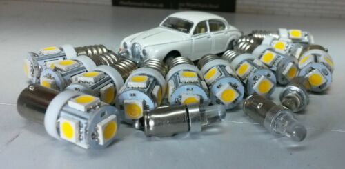 JAGUAR MK2 la Daimler V8 LED Blu Lampadina Strumento Set Completo/' E10 BA7s BA9S x15