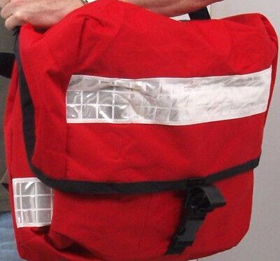BRITISH ROYAL MAIL MESSENGER BAG red issued post courier delivery shoulder pack