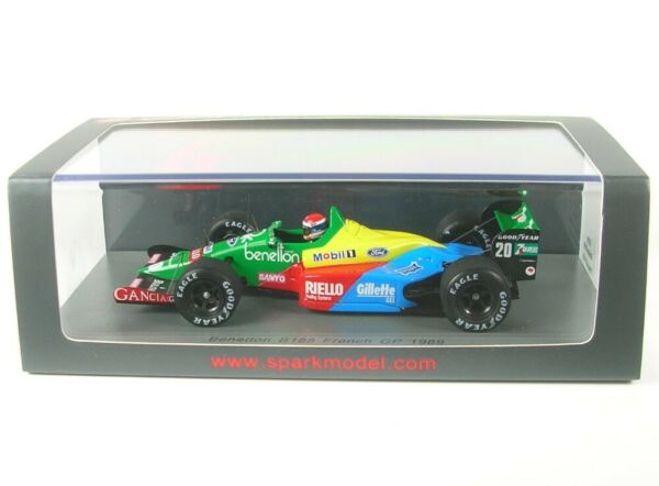 Benetton B188 N. 20 French Gp Formula 1 1989 (emanuele Pirro) 1:43