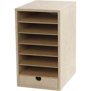 Image Is Loading A5 Paper Card Storage Filing Cabinet Mdf Wood