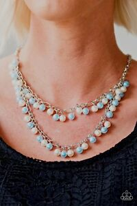Image is loading 034-Beauty-Shop-Fashion-034-Blue-Pearl-Necklace- 93c9be62043b2