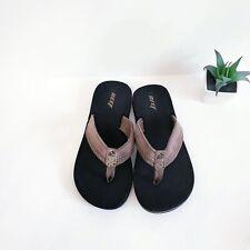 Kids Reef Grom Switchfoot Flip Flop Sandal 5066 Black 100/% Original Brand New
