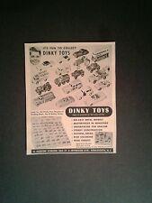 1955 Dinky~Meccano Metal Cars~Trucks Dunlop Bus Diecast Miniature Toys Print AD