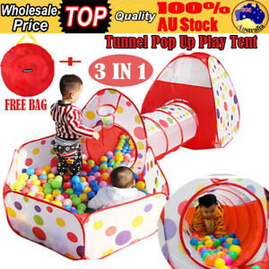 3-IN-1-Kids-Toddlers-Tunnel-Pop-Up-Play-Tent-Cubby-Playhouse-Indoor-Outdoor-Toy