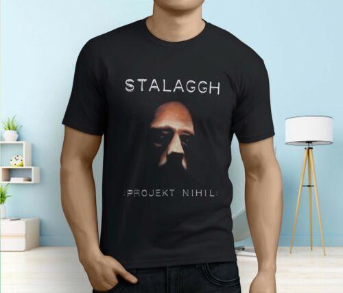 New Popular Stalaggh Projekt Men/'s Black T-shirt Size S-3XL