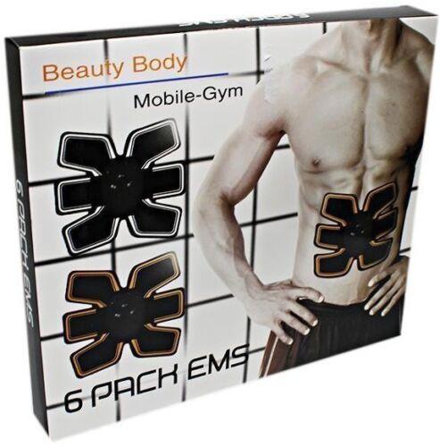 New 6 Pack EMS Trainer Abdominal Toning Muscle Toner Abs Smart Fitness Belt UK