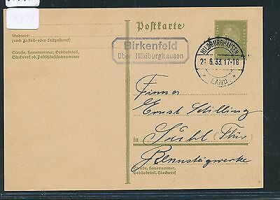 00745) Landpost Ra2 Birkenfeld über Hildburghausen, GA 1933