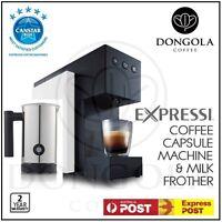 White 2016 Aldi Expressi Capsule Pod Automatic Coffee Machine & Milk Frother