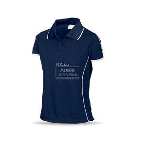 Ladies Slim Fit Navy Cool Dry Soft Feel Work Gym Office Uniform Polo