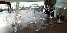 11 hochwertige Jugendstil Kristall Weinkelche um 1920 mit Perlengirlande !!!