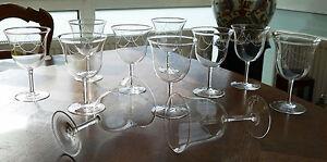 Glas Sammlerglas Schmerzen Haben Haben Sie Einen Fragenden Verstand 11 Hochwertige Jugendstil Kristall Weinkelche Um 1920 Mit Perlengirlande !!