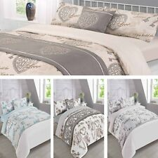 Dreamscene Complete Duvet Cover Bed in a Bag Bedding Set - Grey Natural, 6 Piece
