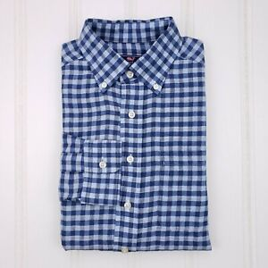 Vineyard-Vines-Blue-Linen-Shirt-Small-Mens-Classic-Fit-Murray-Size-S-Mens-1W1232