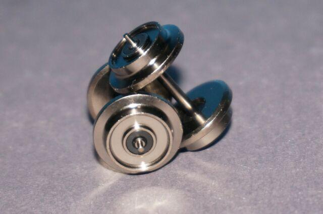 RF4 Zapfenachse einseitig Isoliert neu 2 Trix Express H0 Metall Radsätze 11mm