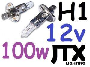 1pr H1 Light Globes Bulbs 12v 100W Halogen JTX suit Nissan S14 S15 R33 Pulsar