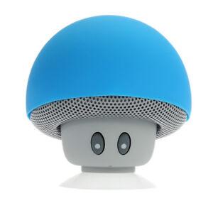 Mini-Enceinte-Bluetooth-Sans-fil-Mushroom-Champignon-Ventouse-Bleu