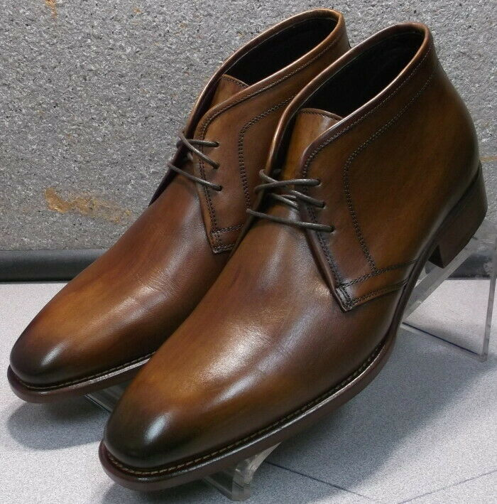 241932 msibt Homme 60 Chaussure Taille 10 M marron en cuir MADE IN ITALY Johnston Murphy