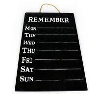 Weekly Message Chalk Board Planner Memo Hanging Kitchen Office Home Reminder