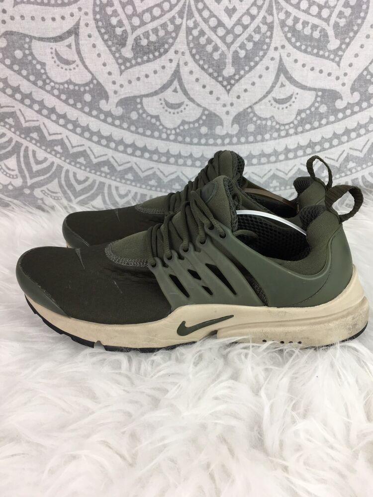 Nike Air Presto Baskets vert kaki Chaussures fonctionnement Gym Run Unisexe Hommes UK Taille 8-
