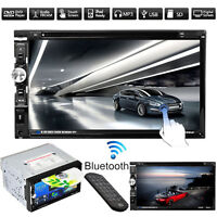 7'' HD TouchScreen 2 Din In Dash Car CD DVD Player Radio FM Stereo USB SD TV MP5