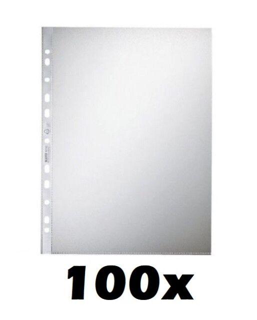 Leitz Prospekthülle A4 Farblos Dokumentenechte PP-Folie genarbt 0085 mm 100 e...