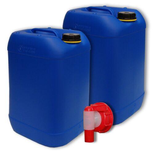 Bidon plastic 20 L Bleu DIN 61 22048+010 1 Robinet aéroflow PEHD alimentaire