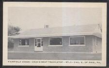 Postcard ERIE Pennsylvania/PA  Fairfield Roadside Dinor Diner view 1940's