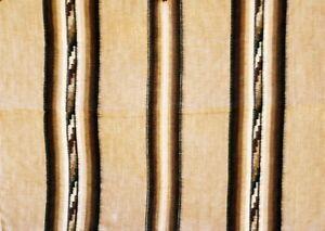 Alpaka-Woll-Decke-grau-braun-Streifen-170x200-cm-dick-warm-Inka-Peru-Tagesdecke
