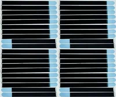 50 cable bridas velcro 20 cm x 20 mm Hell azul cinta de velcro klettkabelbinder ojal