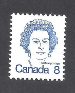 CANADA-034-SPUR-ON-8-034-VARIETY-QEII-CARICATURE-SCOTT-593xii-VF-MINT-NH-BS15992
