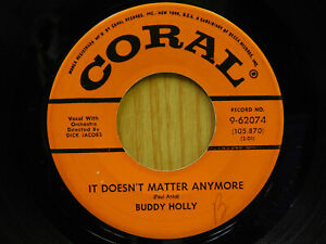 Buddy Holly R R 45 It Doesn T Matter Bw Raining In My Heart Coral Ebay