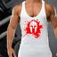 BLOOD SPARTAN GYM VEST STRINGER BODYBUILDING MUSCLE TRAINING TOP FITNESS SINGLET