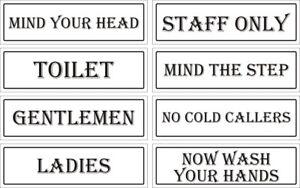 Public Signe Pour Shop Business Ladies Gents Mind Head Personnel Seulement L'esprit étape Avis-afficher Le Titre D'origine