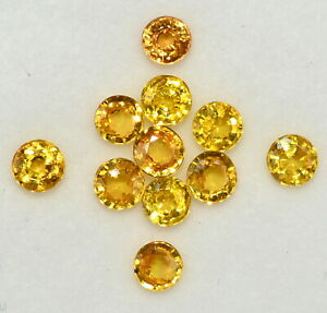 3-75-mm-Natural-Yellow-Sapphire-Round-Cut-Lot-11-Pcs-Loose-Gemstones-3-05-Cts