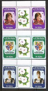 St-Kitts-SC-96-98-Royal-Baby-Strips-of-Three-MNH