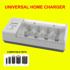 Lloytron B044 Universal Battery Charger for AA AAA C D 9v Rechargeable Batteries