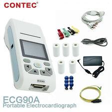 2.83'color LCD Touch ECG/EKG Machine ECG90A, 3/6/12-lead ECG Display,Printer+SW