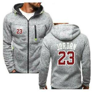 Men-039-s-Jacket-Michael-Jordan-23-Hoodies-Coat-Outwear-Clothing-Sports-Coat-Jersey
