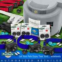 Pet Fence Wireless Petsafe 3 Dog Pif-275 Free Blue Collar Rfa-67 System Pif-300