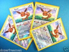 (x4) EEVEE PLAYSET◆ Reverse Holo-Foil Sun Moon Pokemon Cards 101/149 Sylveon GX