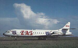 EAS-Europe-Aero-Service-Aerospatiale-SE210-Caravelle-Postcard-Airplane