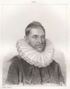 Portrait-of-Philippe-de-Mornay-Lord-of-Plessis-Marly-Engraving-Xixth