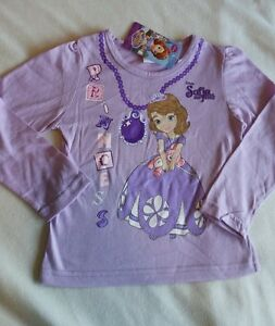 Sofia-the-first-age-3-4-T-shirt-Disney-Long-Sleeve-New-Genuine