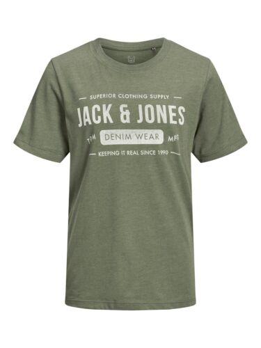Jack /& Jones Junior Jungen T-Shirt JJEJEANS Schwarz Olive Wollweiß 140 bis 176