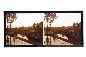 Village A Identificare Bord Da L Acqua Francia Foto Stereo Placca Da Lente c1930