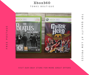 XBOX 360 Games Bundle x2 GAME PAL Guitar Hero Aerosmith ...
