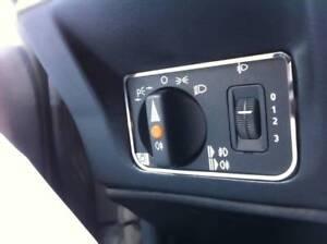 D Mercedes W201 190E  Chrom Rahmen für den Lichtschalter - Edelstahl poliert