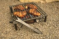 Over Fire Camping Bbq Grill Barbecue Cast Iron Tuscan Legs Cookout Mountains on sale