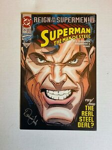 SUPERMAN-MAN-OF-STEEL-25-Signed-by-Dennis-Janke-with-COA